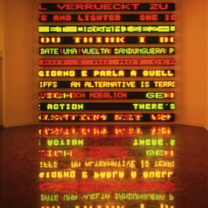 Jenny Holzer, LED work incorporating Truisms (1990), detail