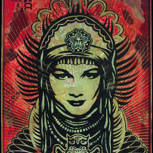 Shepard Fairey, Peace Goddess, 2007