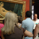 Adam Jolles lecturing in the Louvre