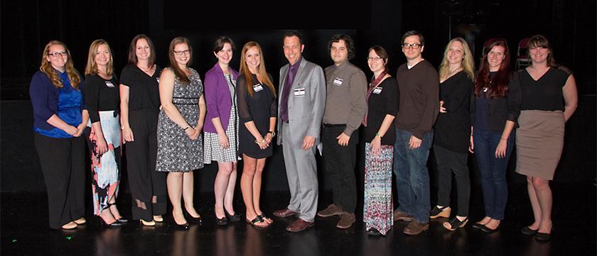 Adam Jolles and student award recipients, spring 2015
