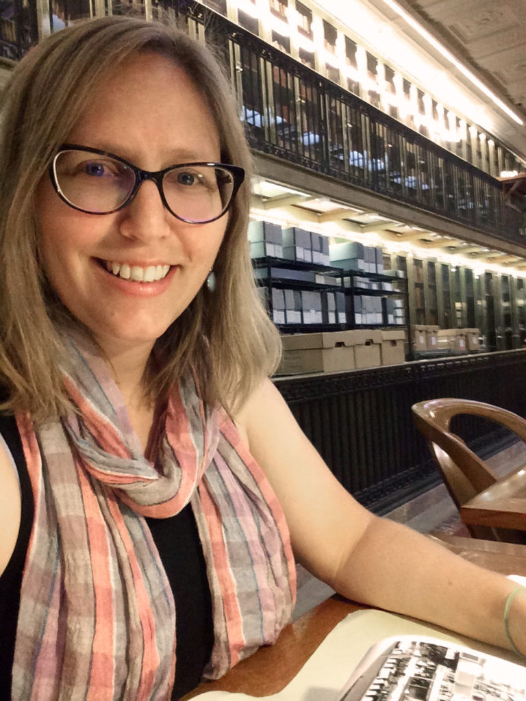 Michelle Demeter in the New York Public Library, summer 2016