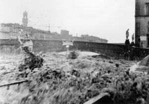 The Arno River during the Florence Flood, November 4, 1966