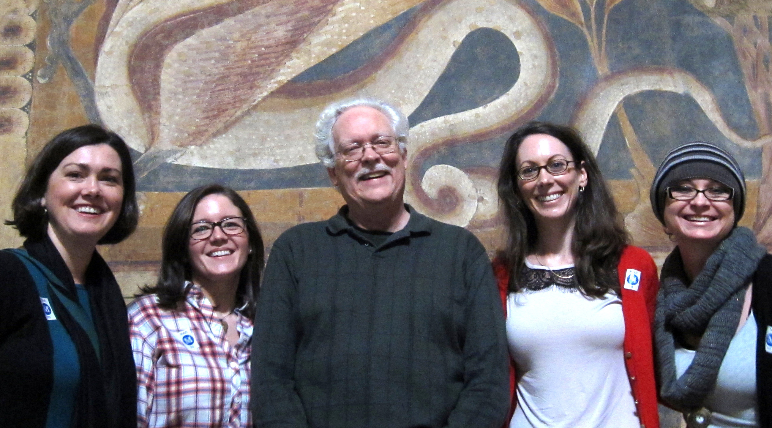 Richard Emmerson at The Cloisters with Jennifer Feltman, Deirdre Carter, Karlyn Griffith, and Carey Fee.