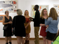 Undergrads at exhibition opening