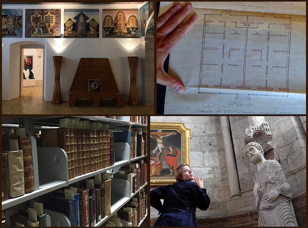 Collage of field research in art history