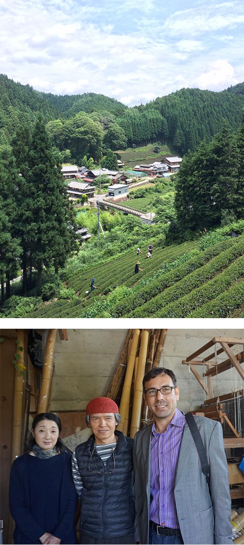 Tea cultivation in Wazuka; Carrasco with bamboo artists