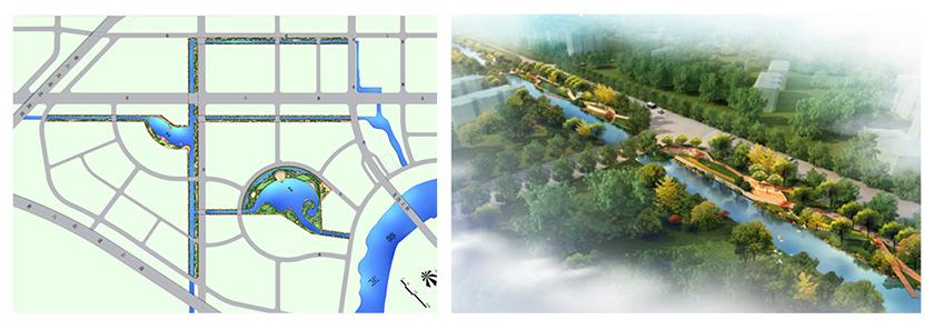 Landscape plan and rendering, Jun Yang