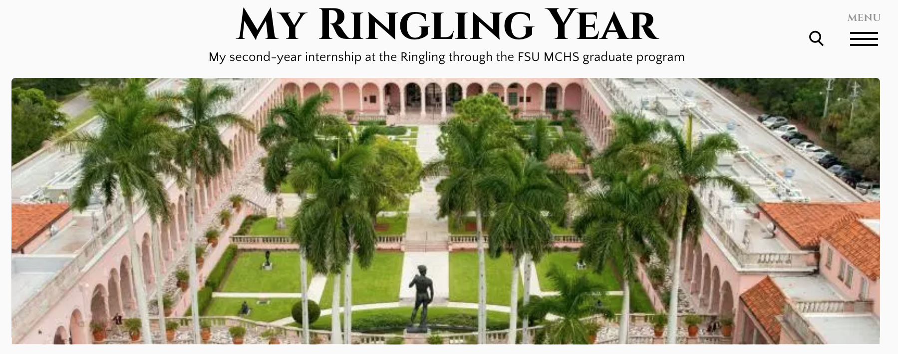 Ringling Intern Blog header