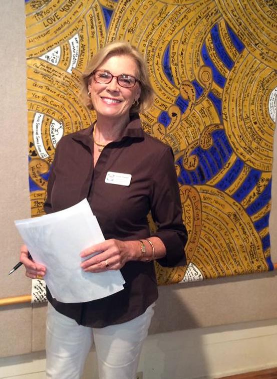 "Susan Baldino with community work ""Together and Able"" at LeMoyne Arts, 2016"