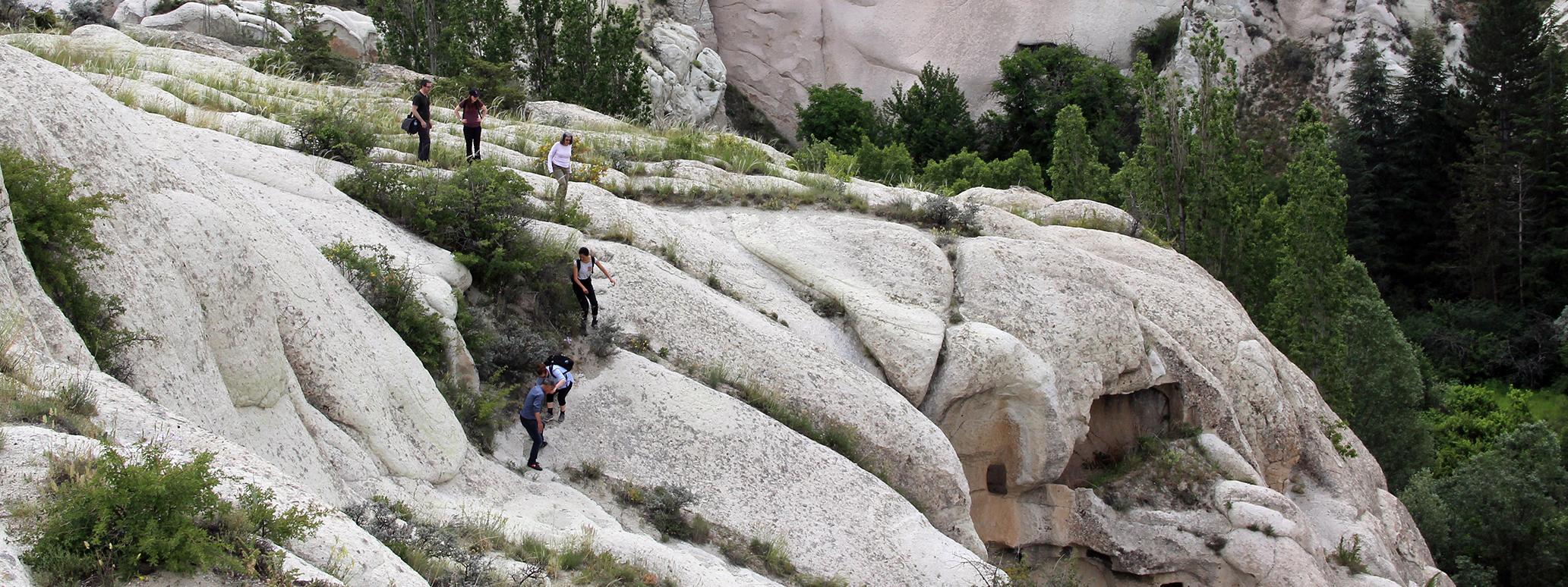 graduate students on fieldwork in Cappadocia