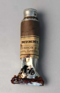 Tube of brown mummy pigment