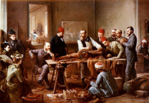 Examination of a Mummy, oil on canvas