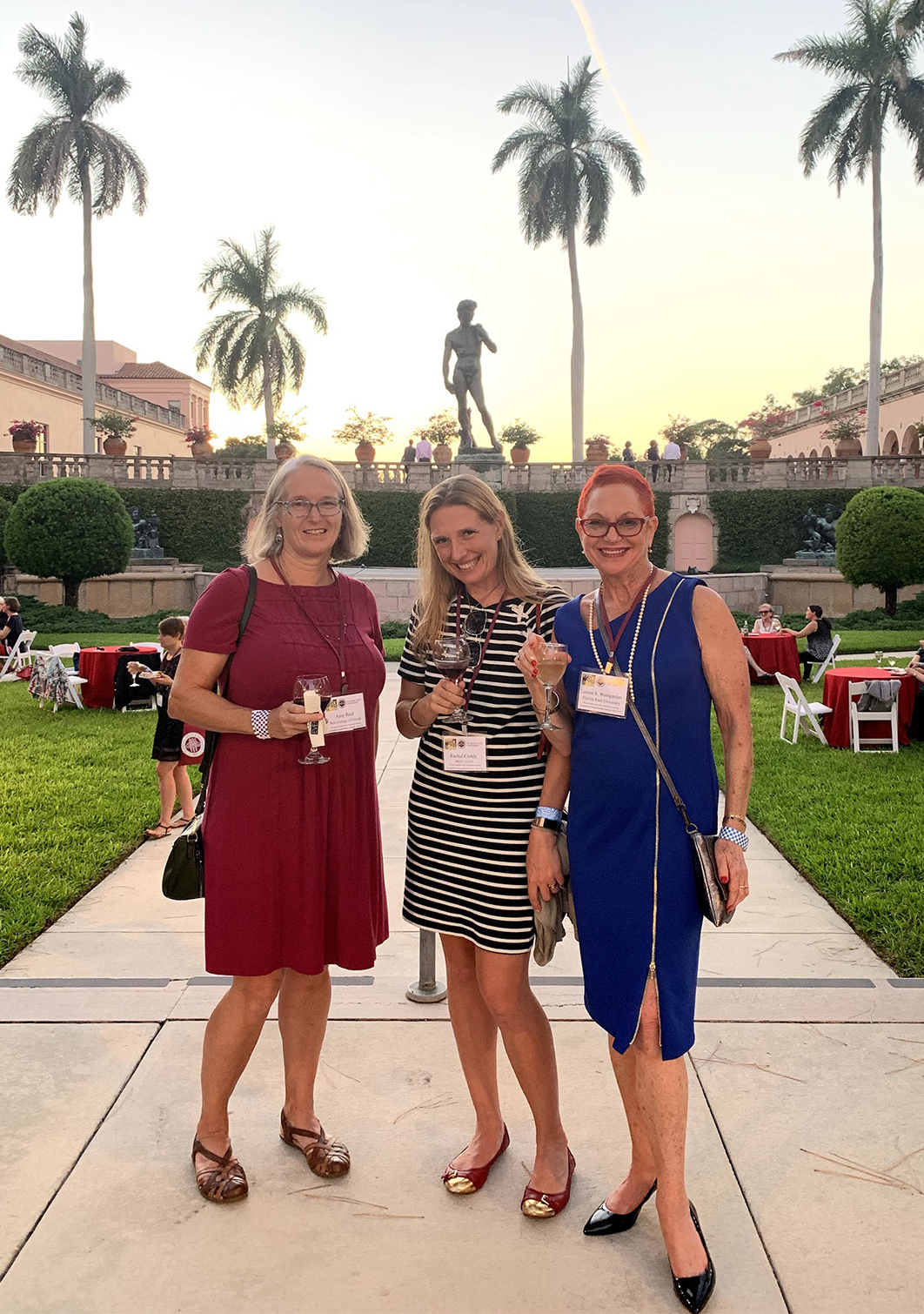Dr. Weingarden with conference participants in The Ringling courtyard