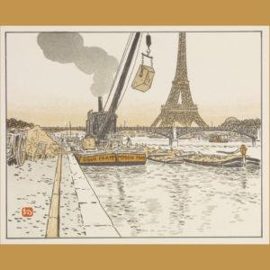 Color lithograph by Henri Rivière, 1902